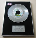 CAT STEVENS - FATHER AND SON Platinum Single Presentation Disc